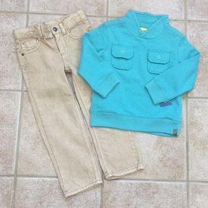 OshKosh B'gosh Boys Fleece Sweatshirt & Jeans